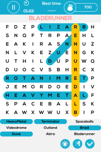Sci-Fi Movie Word Puzzle iPhone Game